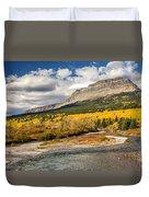 Montana Landscape In Fall Duvet Cover
