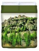 Montana Mountains In Autumn  Duvet Cover