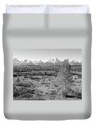 Montana Mountainscape Duvet Cover