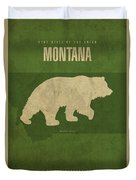 Montana State Facts Minimalist Movie Poster Art Duvet Cover