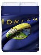 Montana State Flag Duvet Cover
