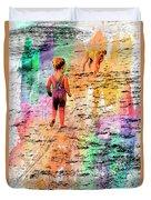 Montanita Kid With Dog Duvet Cover