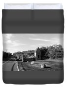 Montauk Guard House B W Duvet Cover