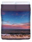 Montauk Pink Surf Duvet Cover