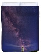 Montauk Point And The Milky Way Duvet Cover