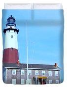 Montauk Point Light  Duvet Cover