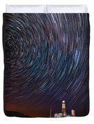 Montauk Star Trails Duvet Cover