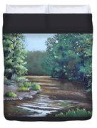 Montauk State Park In Missouri, Oil Duvet Cover