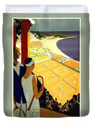 Monte Carlo, French Riviera, Tennis Club Duvet Cover