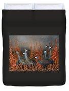 Monte Vista Sandhill Cranes Duvet Cover