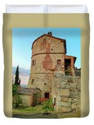 Montefollonico Stone Tower And Fortress Duvet Cover