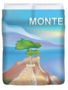 Monterey Bay California Horizontal Scene Duvet Cover