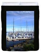 Monterey Harbor California Duvet Cover