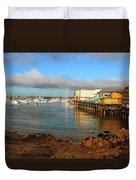 Monterey Wharf Duvet Cover