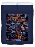 Monterosso By Night Duvet Cover