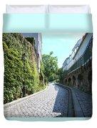 Montmarte Paris Cobblestone Streets Duvet Cover