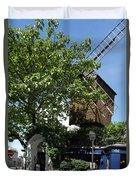 Montmarte Paris Windmill Duvet Cover
