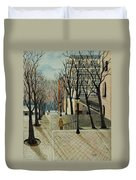 Montmartre Steps In  Paris Duvet Cover