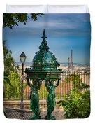 Montmartre Wallace Fountain Duvet Cover