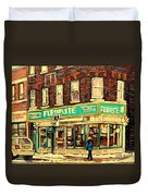 Montreal Cityscenes By Streetscene Artist Carole Spandau Duvet Cover