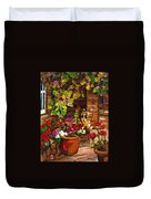 Montreal Cityscenes Homes And Gardens Duvet Cover by Carole Spandau