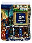 Montreal International Jazz Festival Duvet Cover