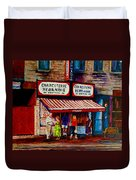Montreal Paintings  Available For Fundraisers By Streetscene  Artist Carole Spandau  Duvet Cover