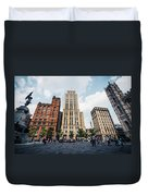 Montreal - Place Darmes Duvet Cover