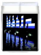 Montreal Port Night Duvet Cover