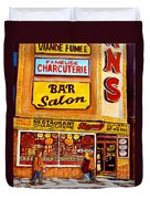 Montreal Smoked Meat Dunns Restaurant Duvet Cover