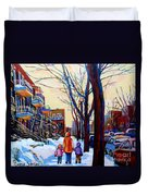 Montreal Winter Duvet Cover