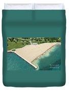 Montrose Beach Duvet Cover