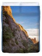 Montserrat Hike Painterly Duvet Cover