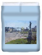 Monument At Pine Ave And Portage Rd Duvet Cover