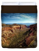 Monument Canyon And Saddlehorn Duvet Cover