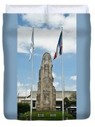 Monument Central Square Quezaltenango Guatemala Duvet Cover