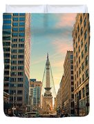 Monument Circle - Indianapolis Duvet Cover