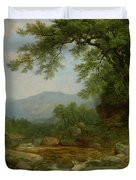 Monument Mountain - Berkshires Duvet Cover by Asher Brown Durand