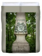 Monument Of Major Obrien In Jedlesee Vienna Duvet Cover