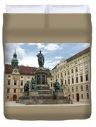 Monument To Emperor Franz I, Innerer Burghof In The Hofburg Imperial Palace. Vienna, Austria. Duvet Cover
