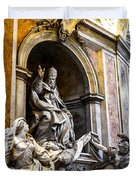 Monument To Pope Gregory Xiii In St Peter's Basilica Duvet Cover