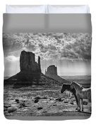 Monument Valley Horses Duvet Cover