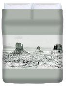 Monument Valley, Winter Duvet Cover