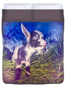 Moo Cow Love Grass Duvet Cover
