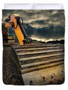 Moody Excavator Duvet Cover