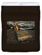 Moody Excavator Duvet Cover by Meirion Matthias