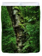 Moody Tree In Forest Duvet Cover