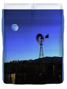 Moon And Windmill Duvet Cover