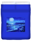 Moon Beach Duvet Cover