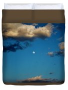 Moon Between The Clouds Duvet Cover